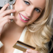 Businesswoman Using Credit Card — Stock Photo #11003189