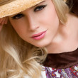 Pretty country girl wearing hat — Stock Photo #11003211