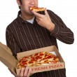 entregador de pizza — Foto Stock