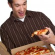 Foto Stock: Pizza Man