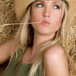 Straw Hat Woman — Stock Photo #11017389