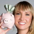 Piggy Bank Woman — Stock Photo #11017423