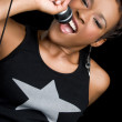 Foto de Stock  : Female Singer