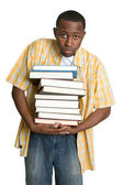 Boy Carrying Books — Stock Photo