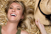 Laughing Country Girl — Stockfoto