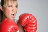 Woman Boxer — Stockfoto