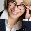 Woman Wearing Glasses — Stock Photo