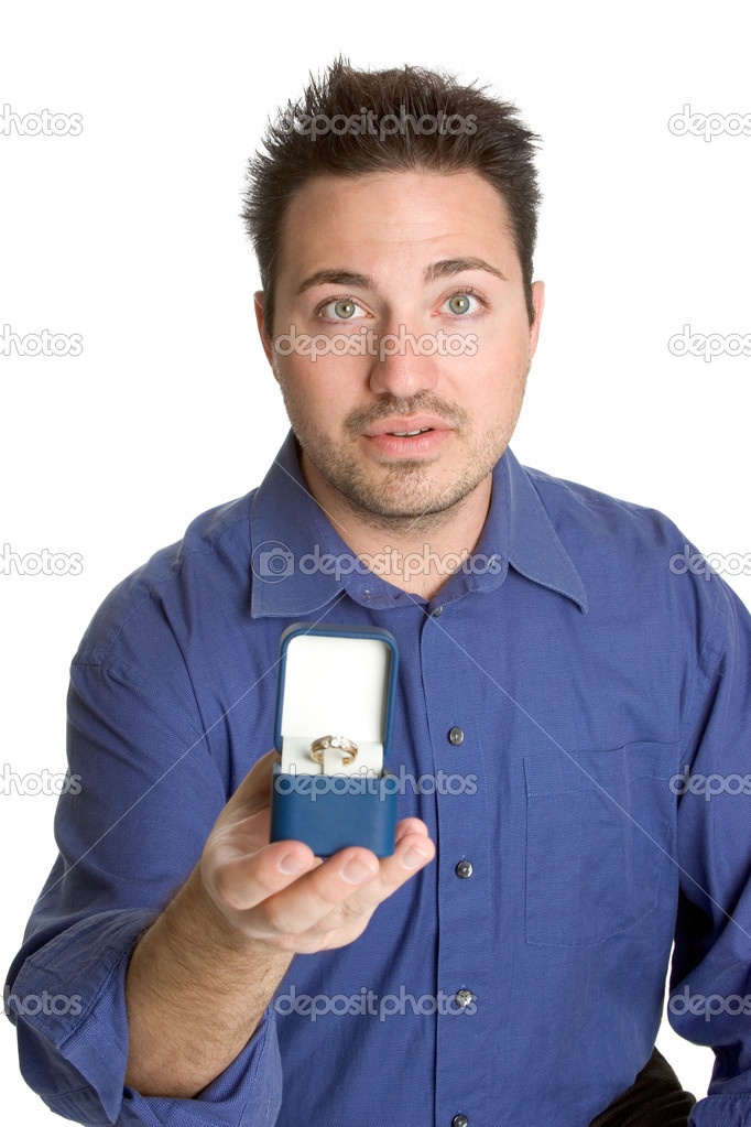 Holding engagement ring — Stock Photo #11039291