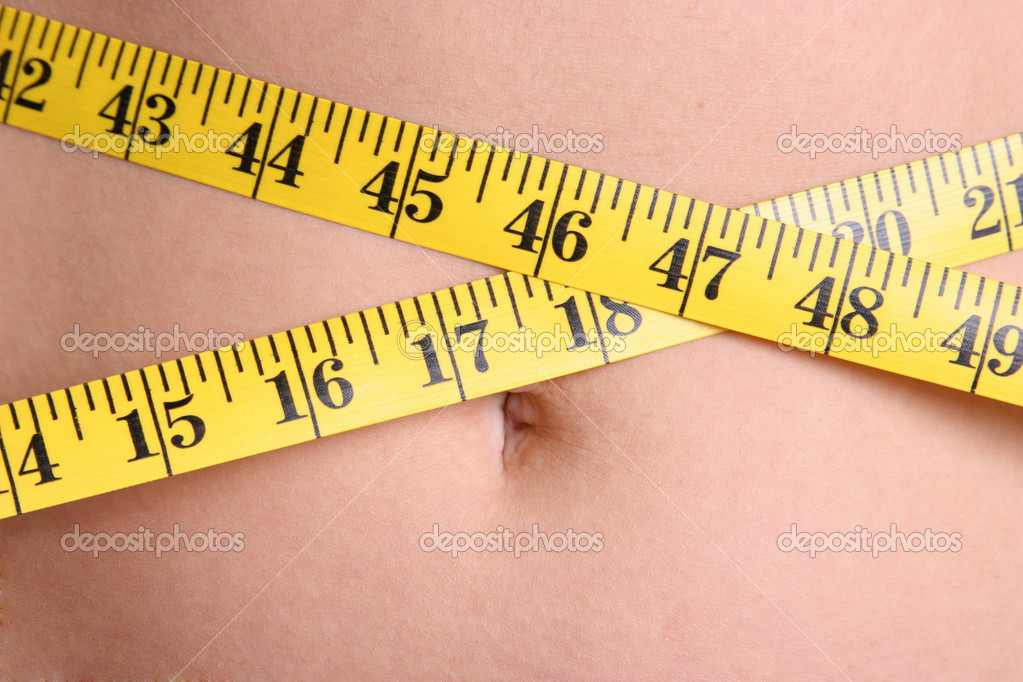 Woman Measuring Chest — Stock Photo #11039447