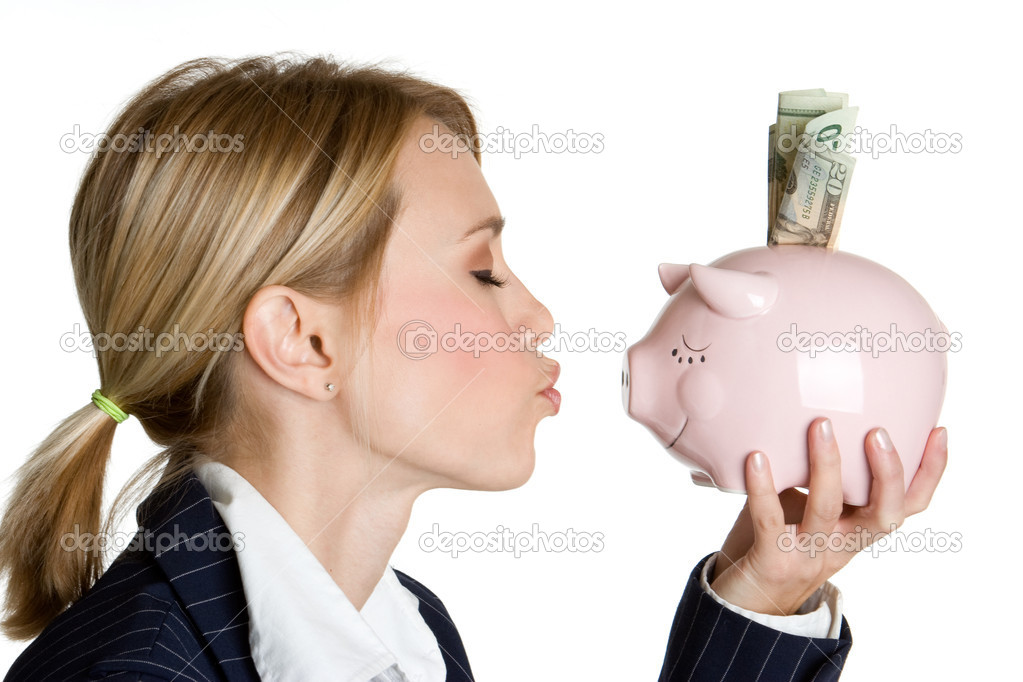 Piggy Bank Woman — Stock Photo #11039495