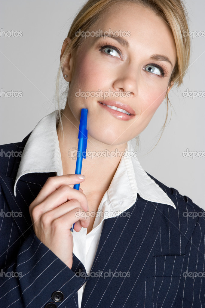 Woman Thinking — Stock Photo #11039580