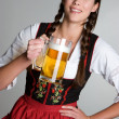 Beer Girl — Stock Photo