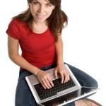 Laptop Woman — Stock Photo