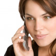 Beautiful young woman calling by mobile phone — Stock Photo #11371665