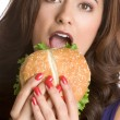 Stock Photo: Hungry Woman
