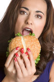 Hungry Woman — Stock Photo