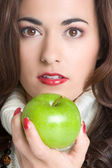 Woman Eating Apple — Foto de Stock