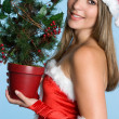 Christmas Woman — Stockfoto