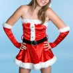 Sexy Christmas Woman — Stock Photo