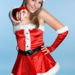 Beautiful Christmas Woman — Stock Photo #11384836