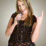 Rocker Girl — Stock Photo