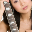 Stock Photo: Sexy Guitar Woman