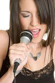 Karaoke Girl — Stock Photo