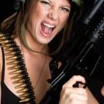 Military Woman — Stock Photo