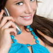Stock Photo: Smiling Woman on Phone