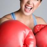 Mad Female Boxer — Stock Photo #11429805