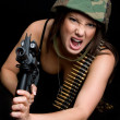 Military Woman — Stock Photo