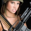 Sexy Female Marine — Stock Photo