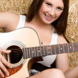 Stock Photo: Country Music Girl