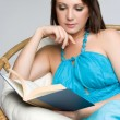 Woman Reading Book — Stock Photo #11429833