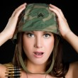 Beautiful Sexy Military Woman — Stock Photo