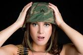 Beautiful Sexy Military Woman — Stock Photo