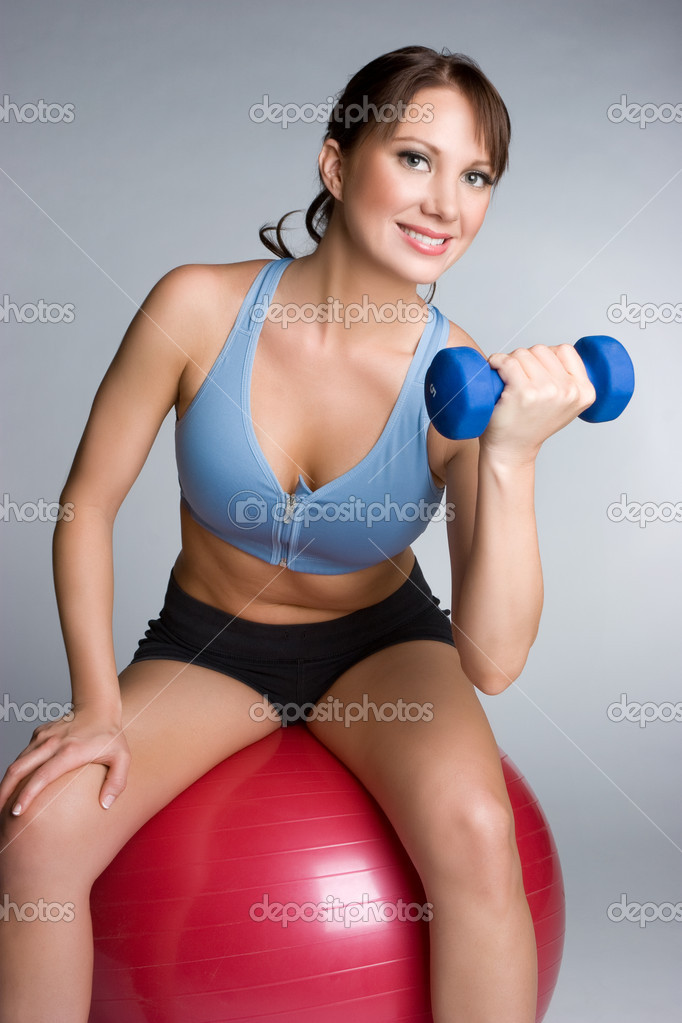 Exercising Young Woman — Stock Photo #11429796
