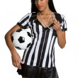 African American Soccer Referee — Stock Photo