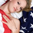 Stock Photo: American Flag Girl
