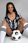 Sexy Soccer Referee — Stock Photo
