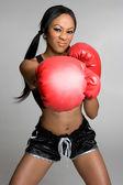 Donna di boxe — Foto Stock