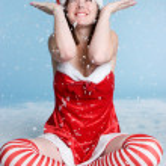 Christmas Snow Woman — Stock Photo