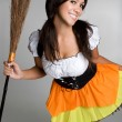 Stock Photo: Halloween Witch Costume