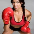 Royalty-Free Stock Photo: Boxing Woman