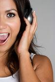 Musik girl — Stockfoto