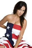 Patriotic Woman — Stockfoto