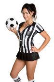 футбольного арбитра — Стоковое фото