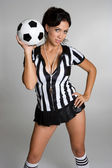 Sexy Soccer Referee — Stock Photo
