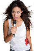 Hispanic Girl Singing — Stock Photo