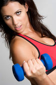 Woman Lifting Dumbbells — Stock Photo